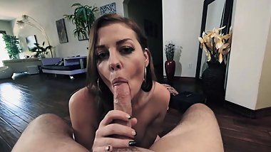 Stepmoms warm mouth makes stepsons cock hard