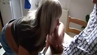 Step Mom Gives her Step-Son a Blwojob