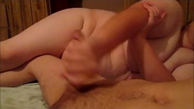Naked step mom suprise son and give him a handjob b4 putting him to sleep