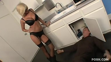 Step Mom Seduces plumber