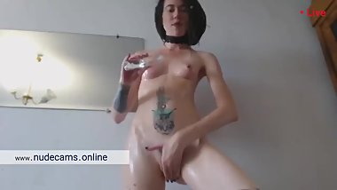 Skinny girl hardcore fisting. Very wet and hot orgasm. Webcam slut