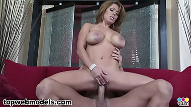 Busty Big Tits MILF Cougar SIENNA WEST Fucked and Facialed! A++