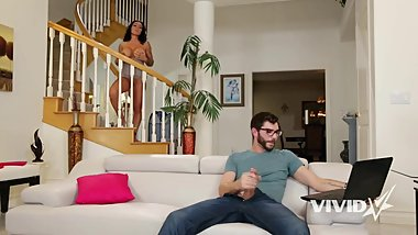 Vivid.com - Smoking MILF catches her stepson jerking off