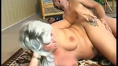 Fat mom catches her step son masturbating and fucks his brains out