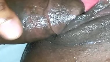 Nasty black bitch squirting and pissing on the BBC