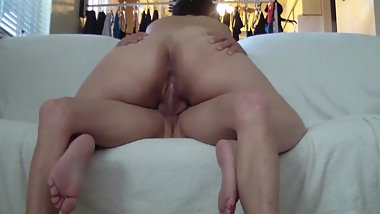 Riding Daddy till he shoots his load