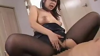 JAPANESE PANYHOSE MUM FUCKED BY SON