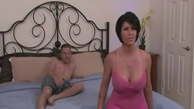 Hot step mom watches porn with son