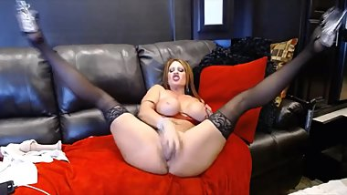 Amazing person Hottie Jade with big boobs and squirting gaping pussy