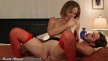 Squirter Mom is Greedy with Stepson's Cock