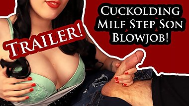 Birthday Wish: MILF Step Mom Step Son Blowjob - Cuckold Husband Films!