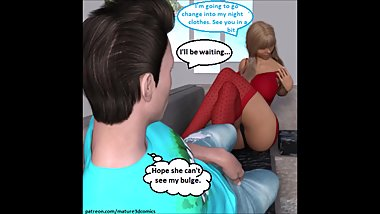3D Comic: Step Mom Cheats, Seduces & Fucks Son
