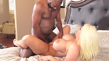 Alura Jenson fucks old black man