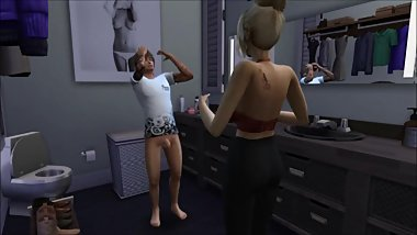 SIMS 4 - Stepmom Caught Son Jerking Off