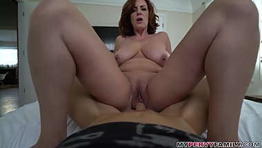 Mom Wants More Than Alone Time With Step-Son... Like His Cock!