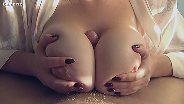Big boobs titty fuck till cum