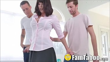 Stuck Stepmom Given Younger Cock By Both Sons