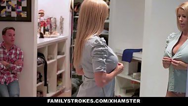 familyStrokes - Step Mom fucks stepson while dad is away