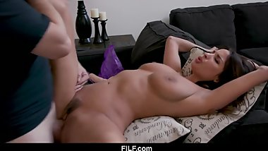 StepMom Anissa Kate Chritsmas Fuck With Son