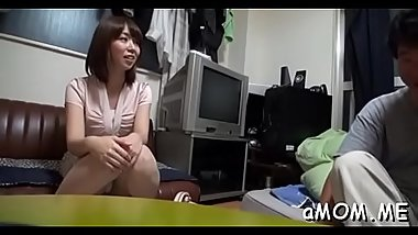 Mom goes down on son and sucks cock previous to fucking hard