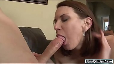Naughty stepmom wants stepsons hard cock
