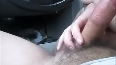 Sexy mom gives blowjob to her son young friend in her car and swallow his cum