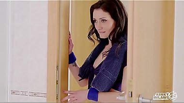 KINKY INLAWS - Hot FFM threesome with Romanian stepmom Lara De Santis